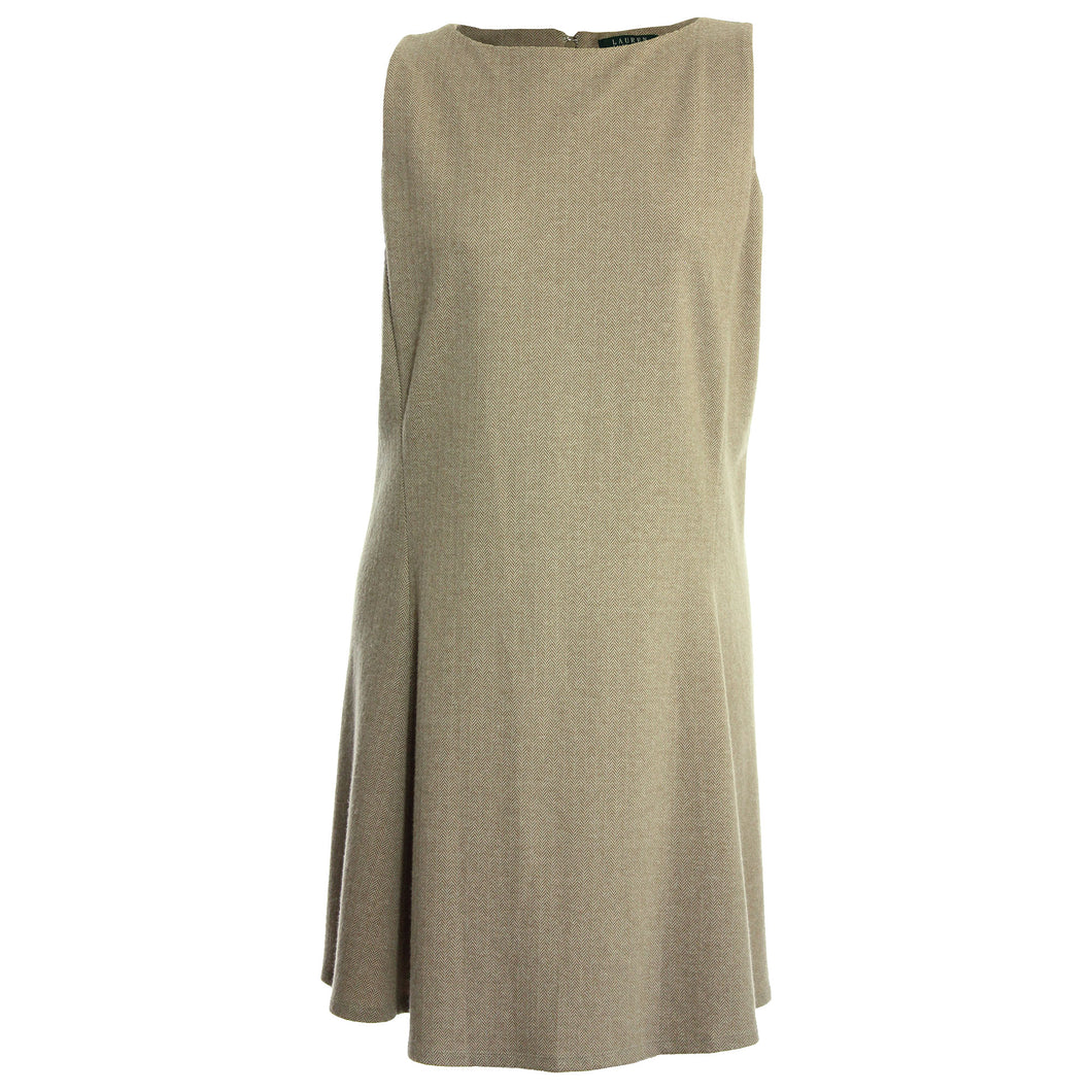Ralph Lauren Beige Sleeveless Shift Dress