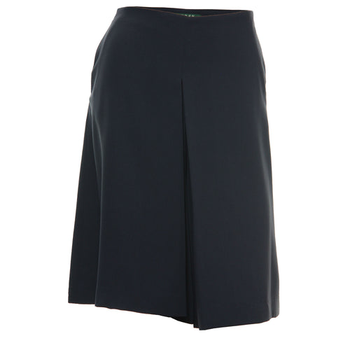 Ralph Lauren Blue Pleated Culottes Shorts