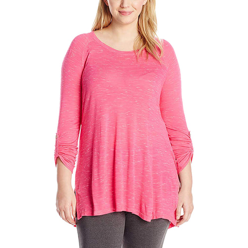 Calvin Klein Pink 3/4 Sleeve Quick-Dry Performance Shirt