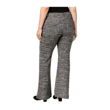 Rachel Roy Black Marled Boot Cut Pants Plus Size