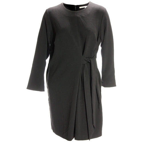 Rachel Roy Black Long Sleeve Tie Front Dress
