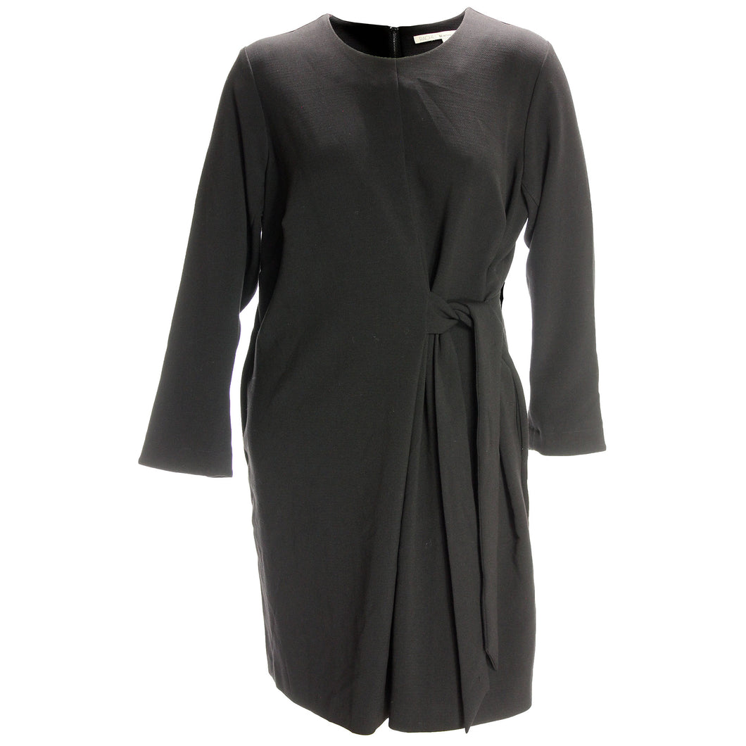Rachel Roy Black Long Sleeve Tie Front Dress Plus Size