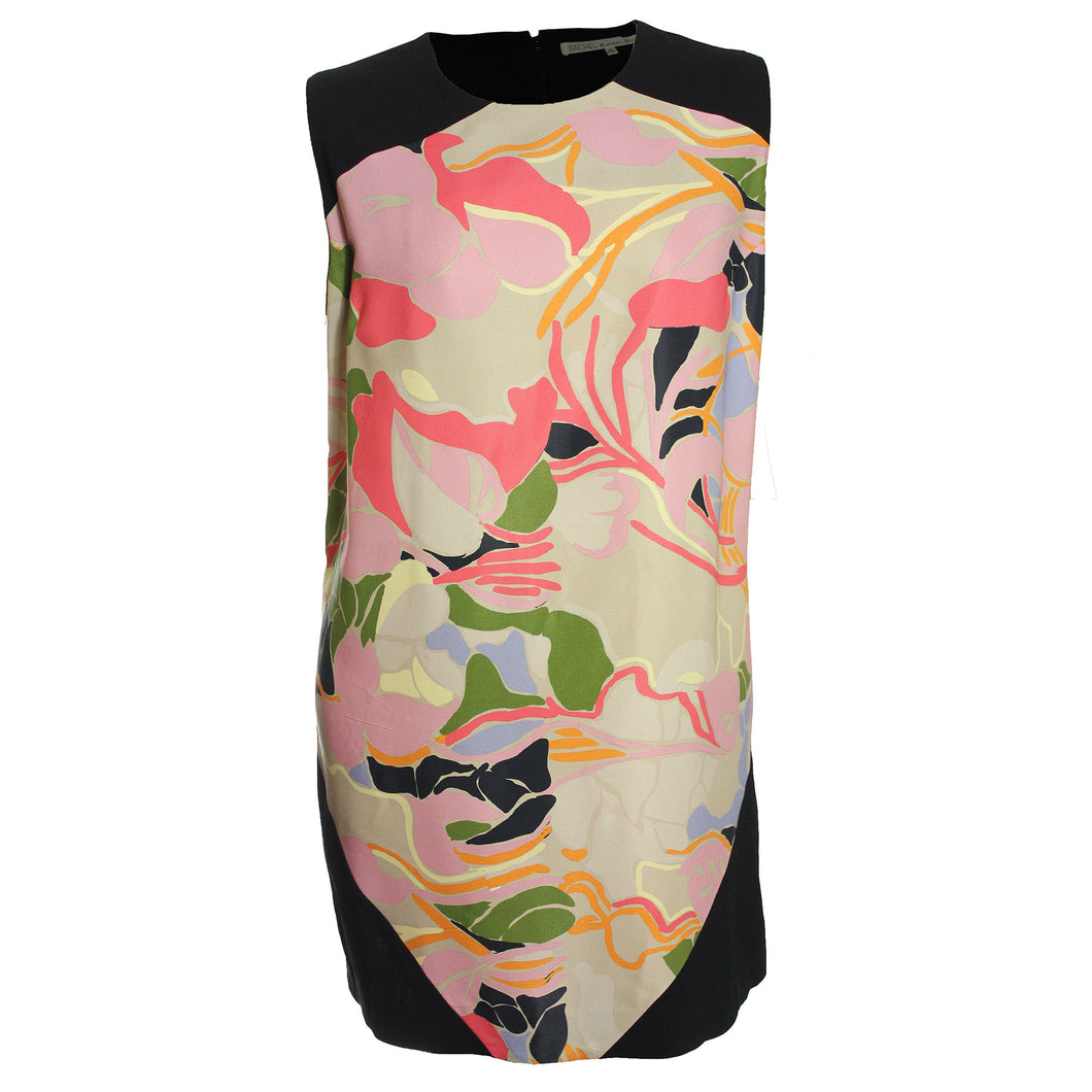 Rachel Roy Multi Floral Colorblock Sleeveless Shift Dress