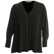 Rachel Roy Black or Orange Long Sleeve V-Neck Blouse