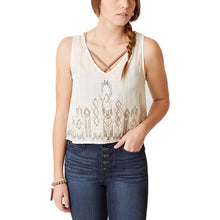 Billabong Ivory Sleeveless Beaded Tank Top Juniors