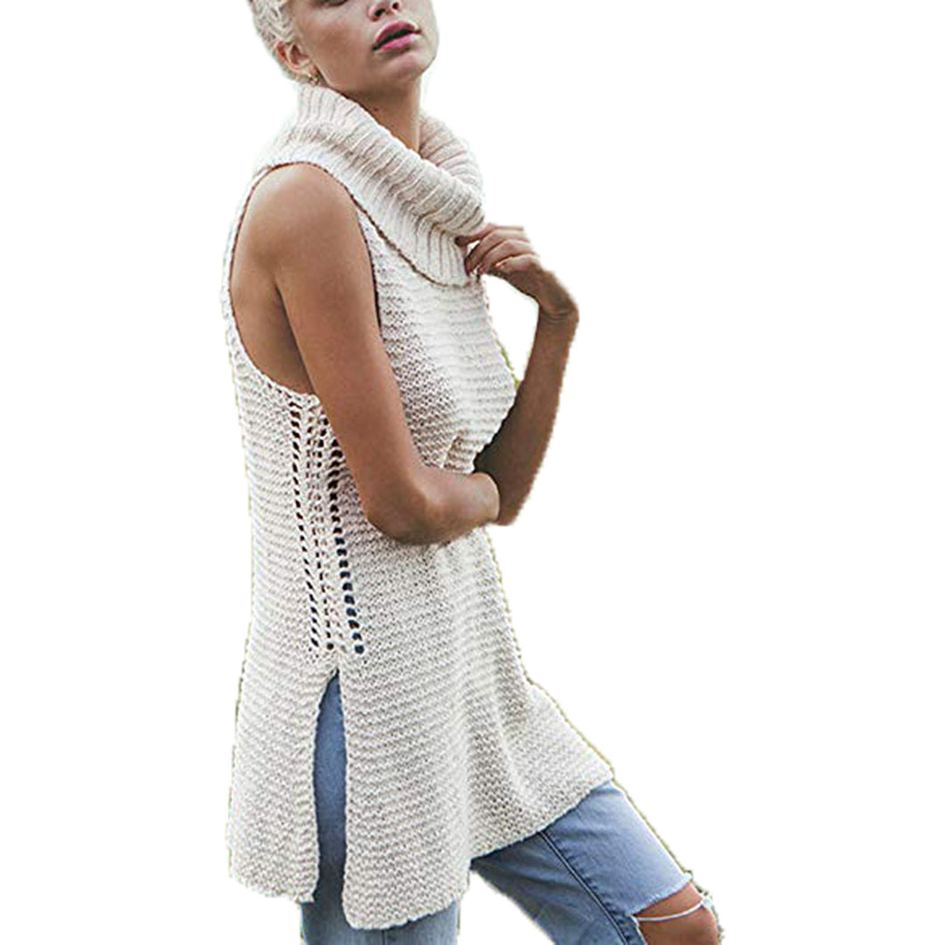 Billabong Ivory Sleeveless Turtleneck Sweater