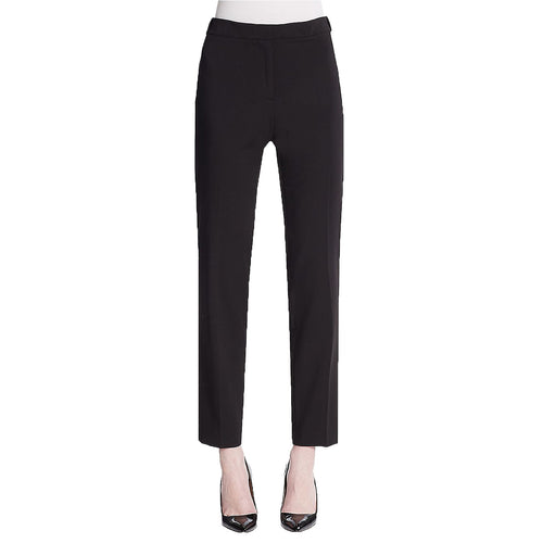Calvin Klein Black Slim Leg Zipper Detail Ankle Pants