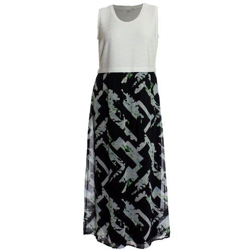 Calvin Klein Multi Color Print Sleeveless Maxi Dress
