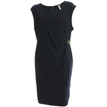 NY Collection Blue or Black Sleeveless Dress with Hardware Detail