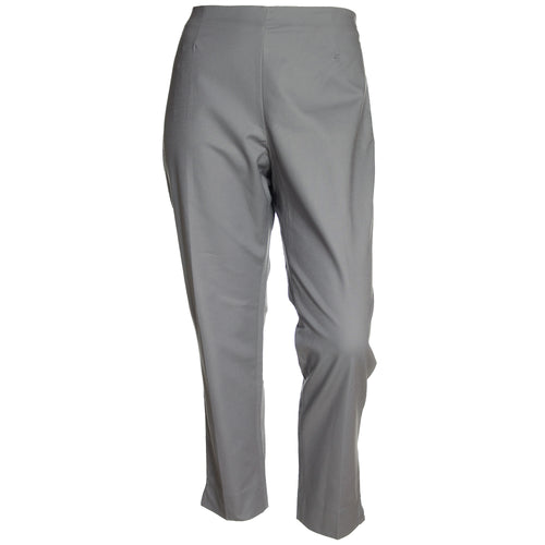Ellen Tracy Gray Curvier Fit Slim Leg Ankle Pants