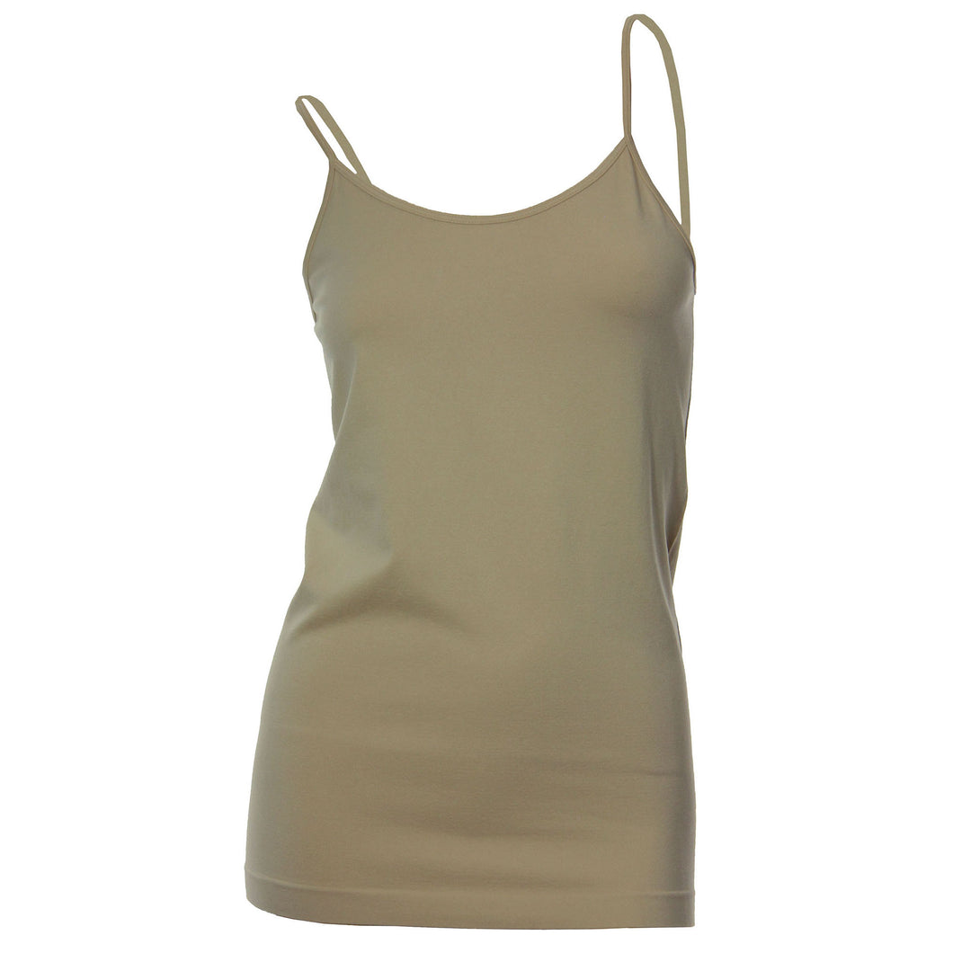Tattoo Me Beige Seamless Adjustable Strap Tank Cami
