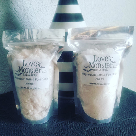 10 oz magnesium bath and foot soak