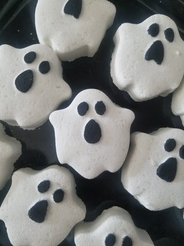 5 pack mini ghost bath bombs