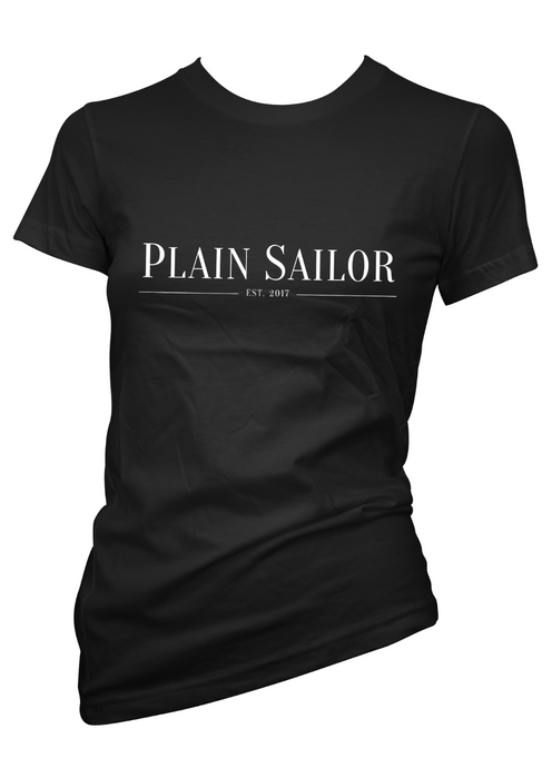 Plain Sailor Black Tee Women's