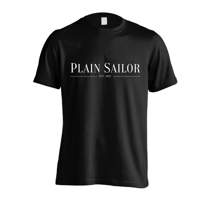 Plain Sailor Black Tee Mens