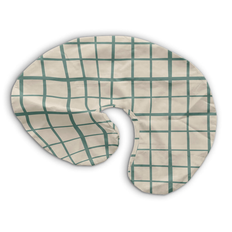 Grid in Teal | Nursing Pillow Cover