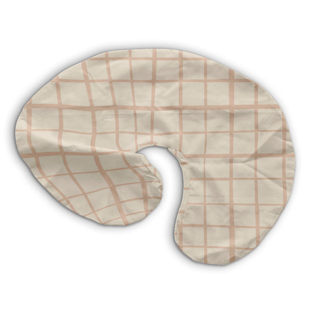 Grid in Peach | Nursing Pillow Cover