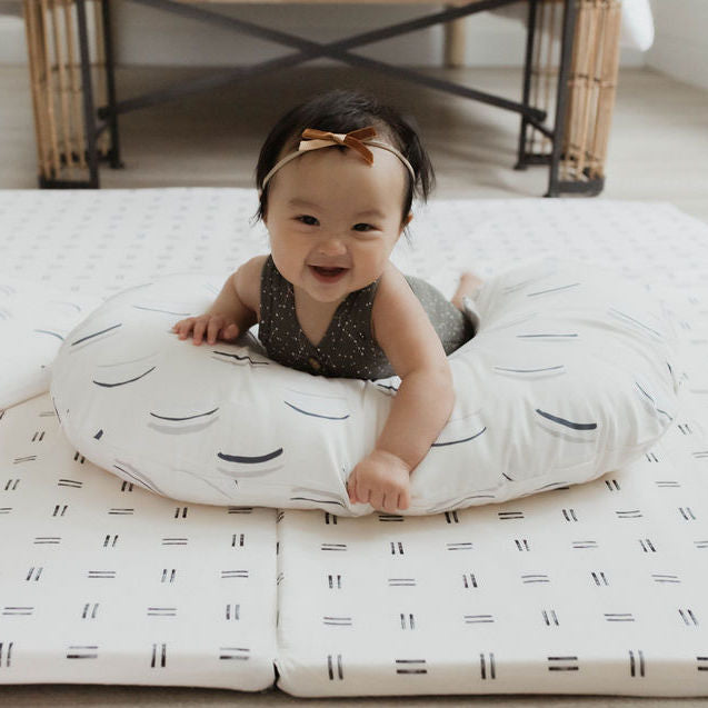 Arches in White | Nursing Pillow Cover - Toki Mats