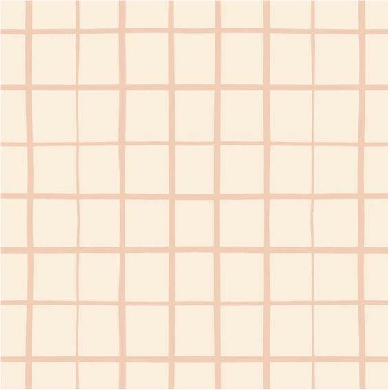 Grid in Peach | Standard Cover - Toki Mats