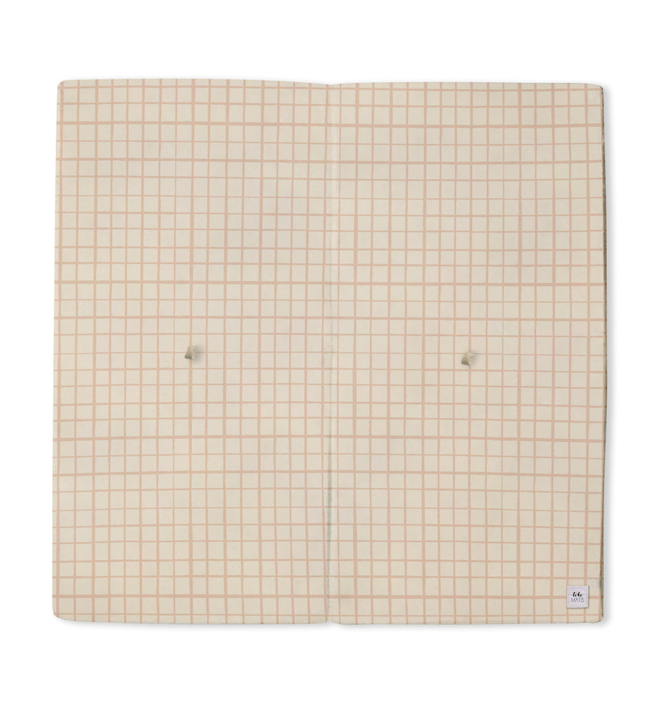 Grid in Peach | Mega | Padded Play Mat - Toki Mats