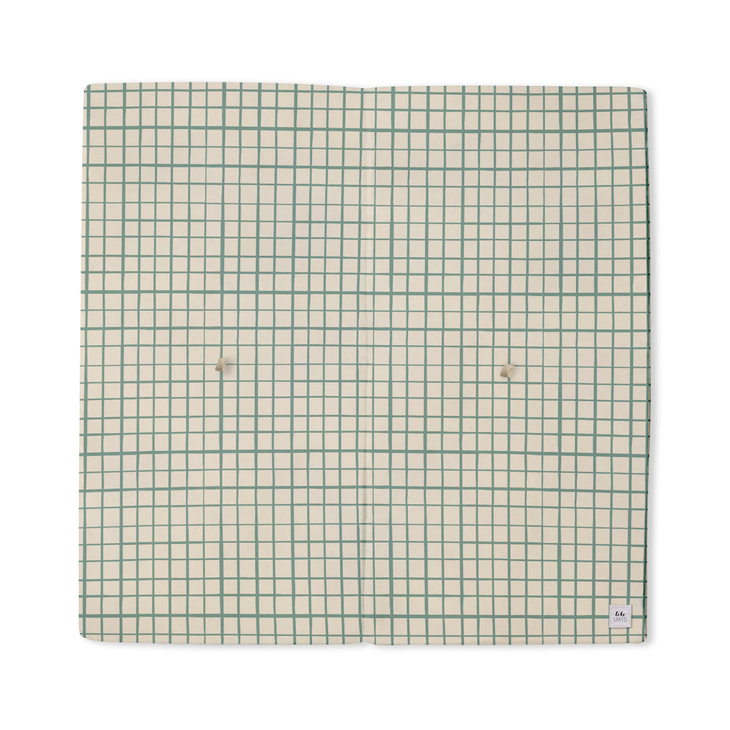 Grid in Teal | Mega | Padded Play Mat - Toki Mats