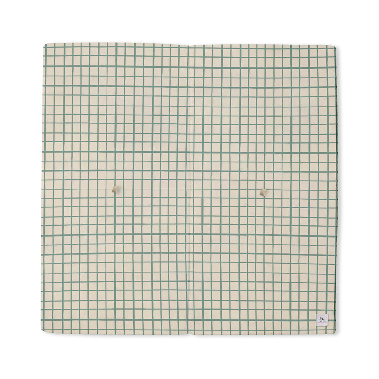 Imperfect | Grid in Teal | Mega | Padded Play Mat