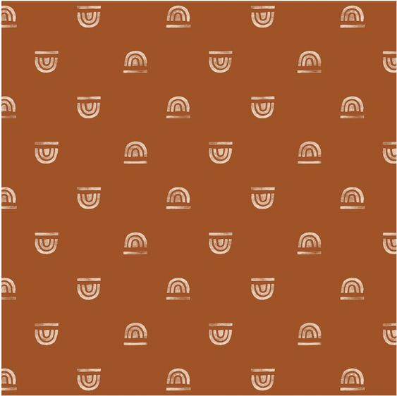 Rainbow Stamp in Rust | Nursing Pillow Cover