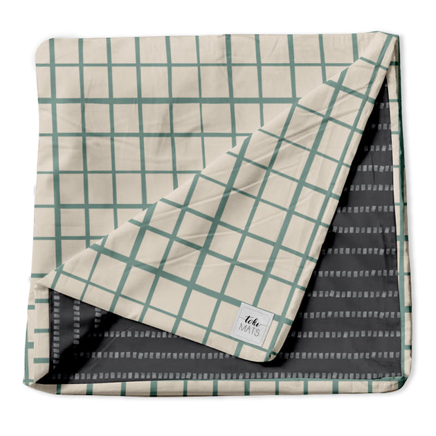 Grid in Teal | Standard Cover - Toki Mats