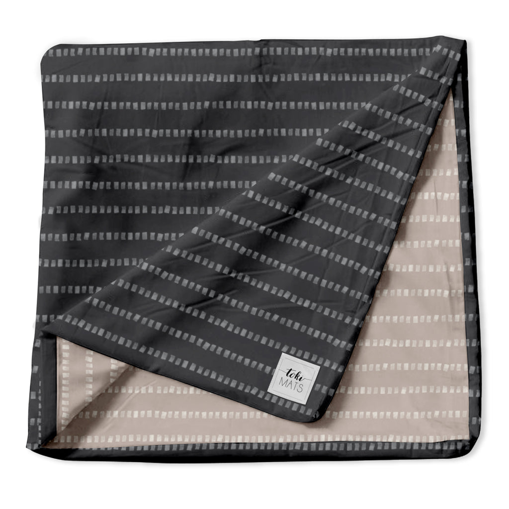 Stripe in Dark Grey | Standard Cover - Toki Mats