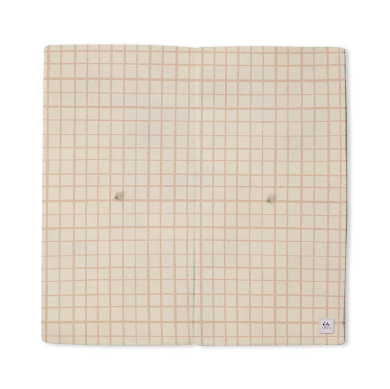 Imperfect | Grid in Peach | Standard | Padded Play Mat