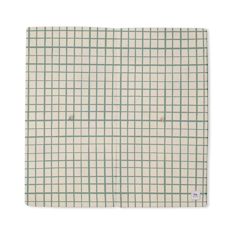 Imperfect | Grid in Teal | Standard | Padded Play Mat