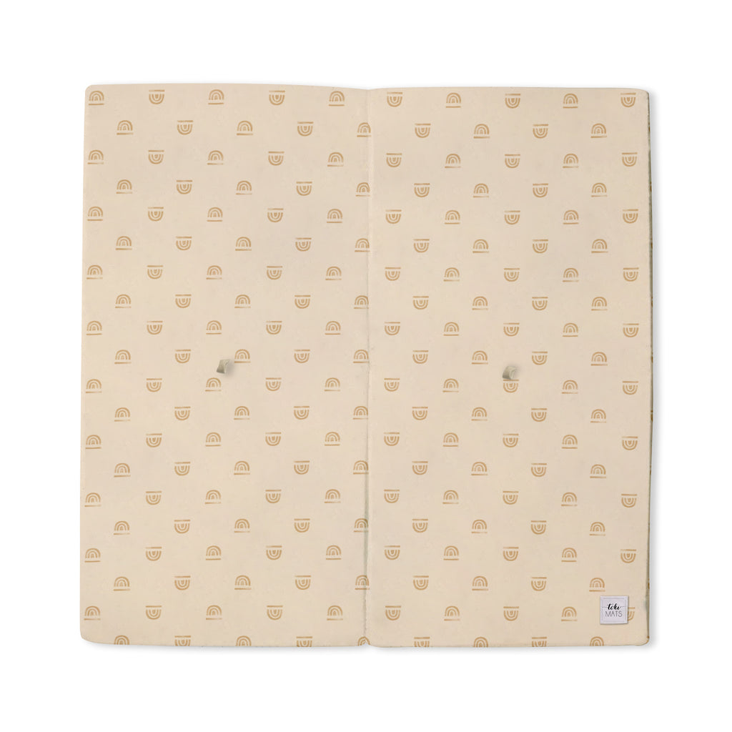 Rainbow Stamp in Cream | Standard | Padded Play Mat