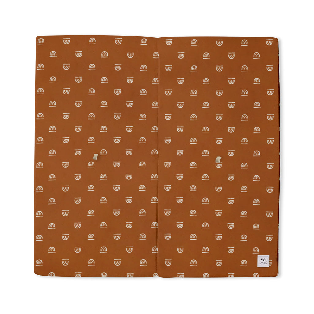 Rainbow Stamp in Rust | Standard | Padded Play Mat - Toki Mats