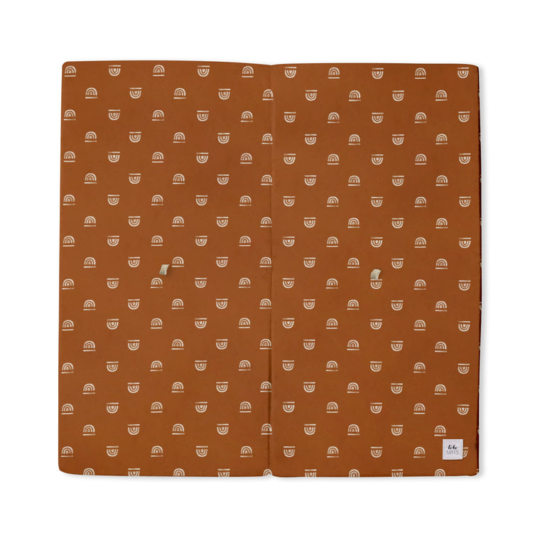 Imperfect | Rainbow Stamp in Rust | Standard | Padded Play Mat
