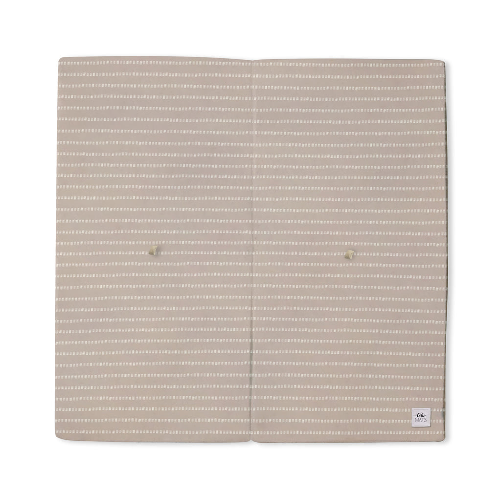 Stripe in Light Grey | Standard | Padded Play Mat