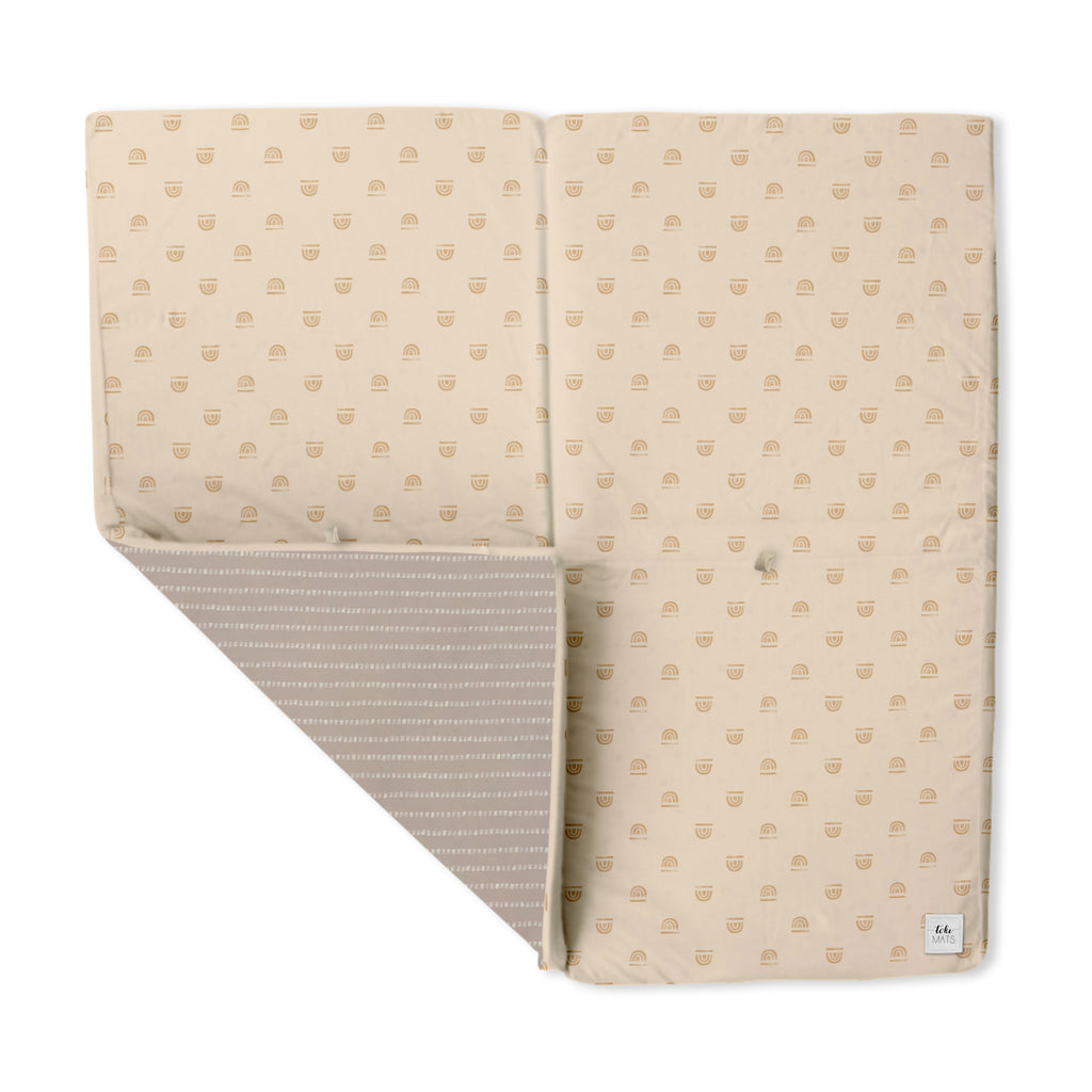 Rainbow Stamp in Cream | Mega | Padded Play Mat - Toki Mats