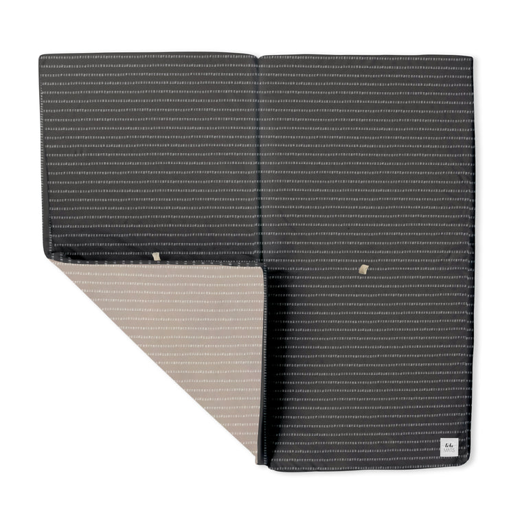 Stripe in Dark Grey | Mega | Padded Play Mat - Toki Mats