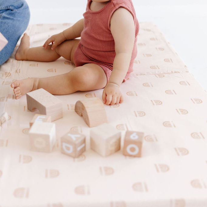 Rainbow Stamp in Cream | Mega | Padded Play Mat
