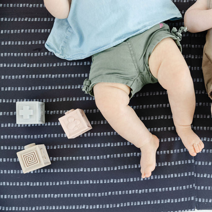 Stripe in Dark Grey | Mega | Padded Play Mat