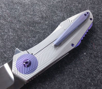 Accomplice Frame Lock<br>Purple- 3D Machined Discs<br>Backspacer