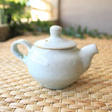Korean Baekja Teapot by Jun Moon Hwan, Apple Tree Ash Glazed | Daurim Tea & Teaware