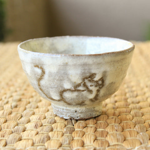 Handmade Korean Boonchung (Buncheong) Teacup - Mouse by Jung Sung Hoon | Daurim Tea & Teaware