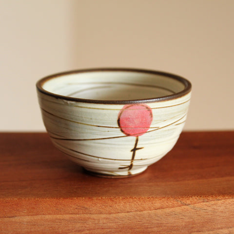 Handmade Korean Buncheong Teacup with Cherry | Ceramics | Daurim Tea & Teaware