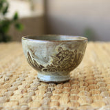Handmade Korean Teacup - Tiger Minhwa No. 2 by Guem Tae Woong | Daurim Tea & Teaware