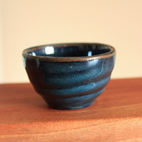 Handmade Korean Teacup with Dark Blue Glaze | Daurim Tea & Teaware