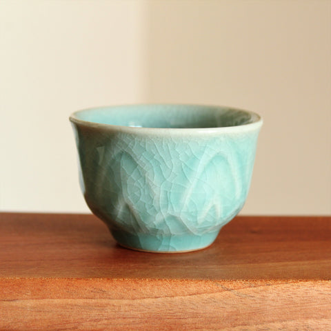 Lotus Flower Petal - Handmade Korean Celadon Teacup | Daurim Tea & Teaware, Ceramics