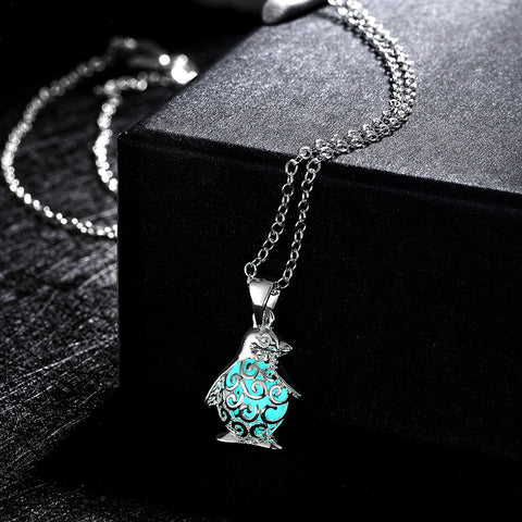 Silver plated glow in the dark penguin pendant and necklace top silver plated glow in the dark penguin pendant and necklace aloadofball Gallery