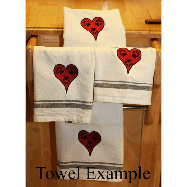 Kitchen towels style example.