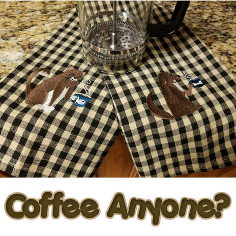 Coffee pals pet lovers kitchen towels