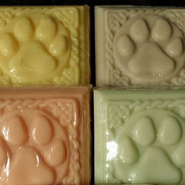 Hand crafted dog soaps in 4 scents.